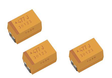AVX Tantalum Capacitor 22μF 50V dc Electrolytic Solid ±10% Tolerance , TPM (400)