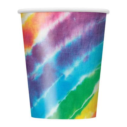 Tie Dye 9oz Paper Cups, 8ct Pour la fête d'anniversaire