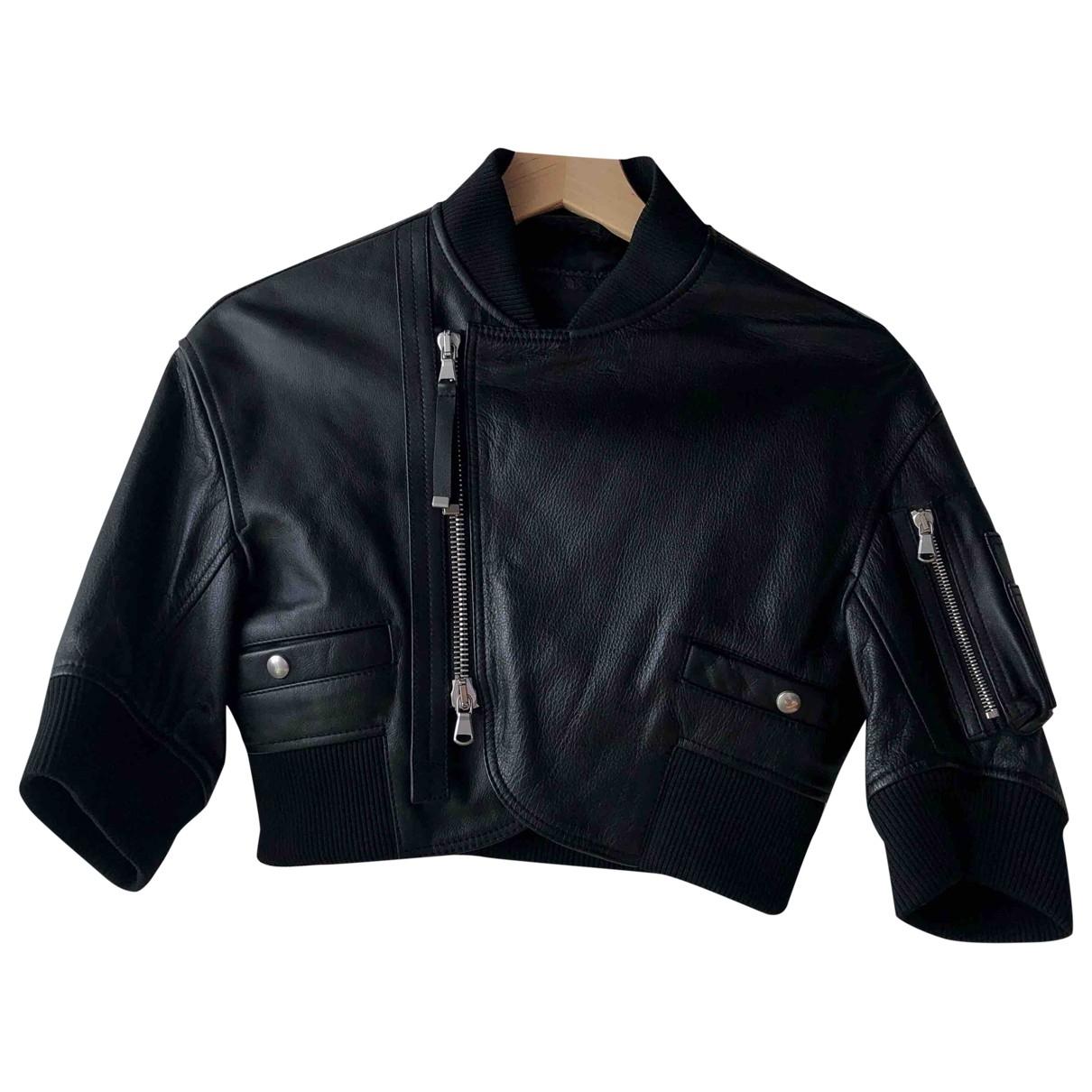 Diesel Black Gold \N Black Leather jacket for Women 36 FR