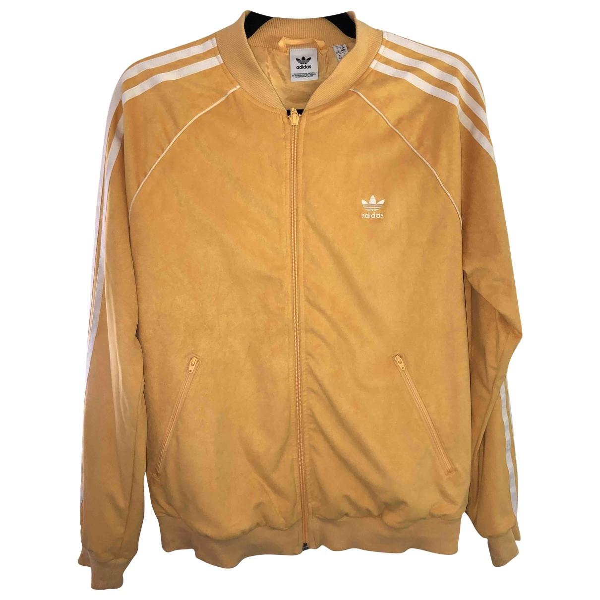 Adidas \N Jacke in  Gelb Veloursleder