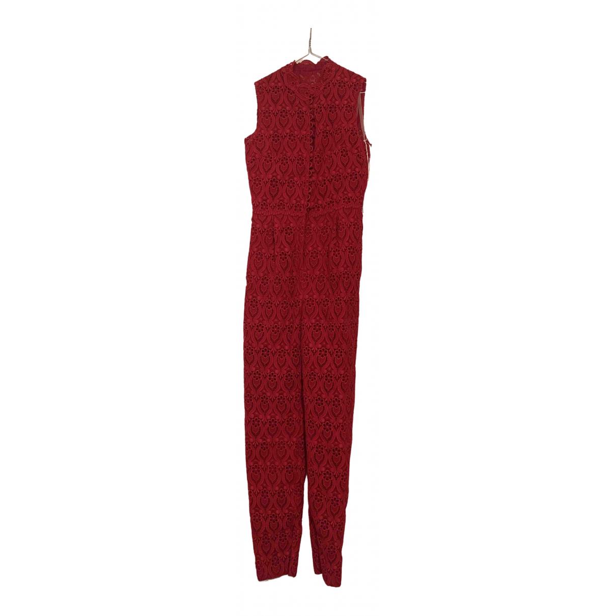 Valentino Garavani - Combinaison   pour femme en coton - rouge
