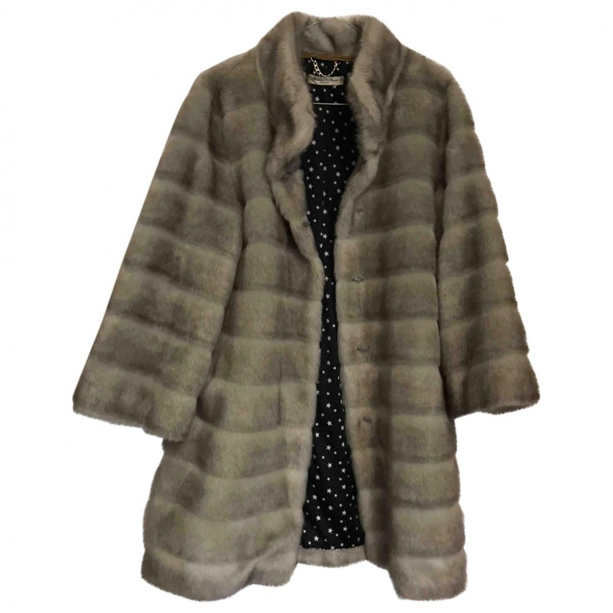 Non Signé / Unsigned \N Grey Faux fur coat for Women 40 IT