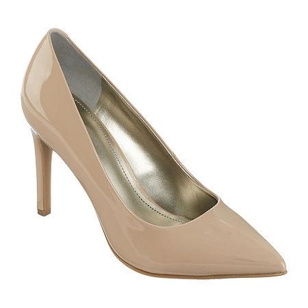 Worthington Womens Zoe Pointed Toe Stiletto Heel Pumps, 9 Medium, Beige
