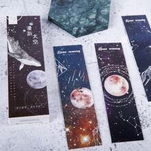30pcs Starry Sky Bookmark