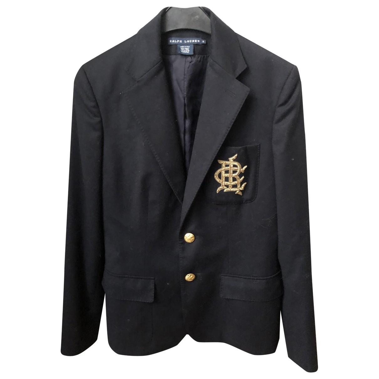 Ralph Lauren \N Navy Wool jacket for Women 6 US