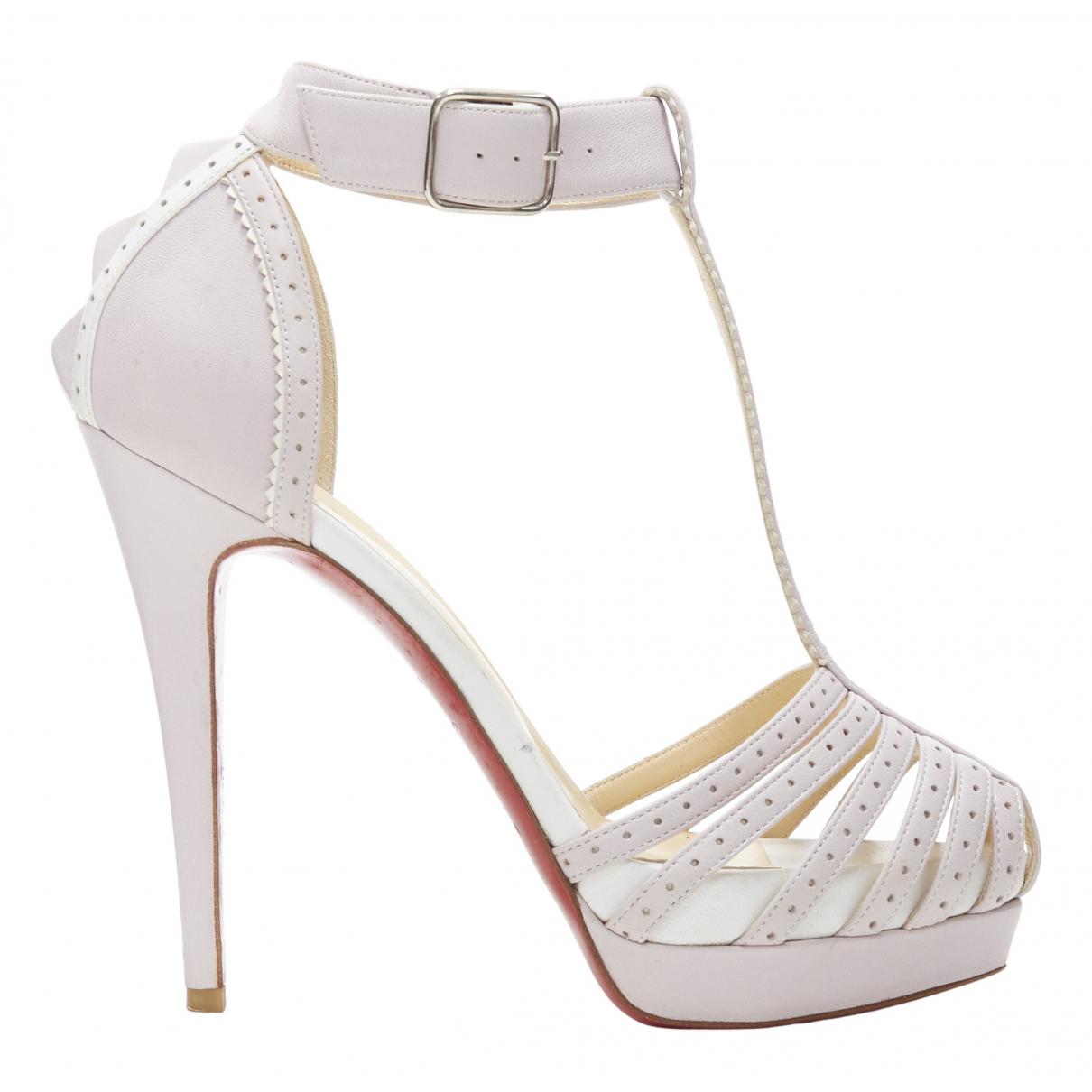 Christian Louboutin \N Purple Leather Sandals for Women 36 EU
