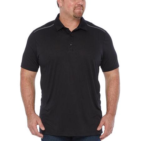 Msx By Michael Strahan Big and Tall Mens Short Sleeve Polo Shirt, 4x-large Tall , Black