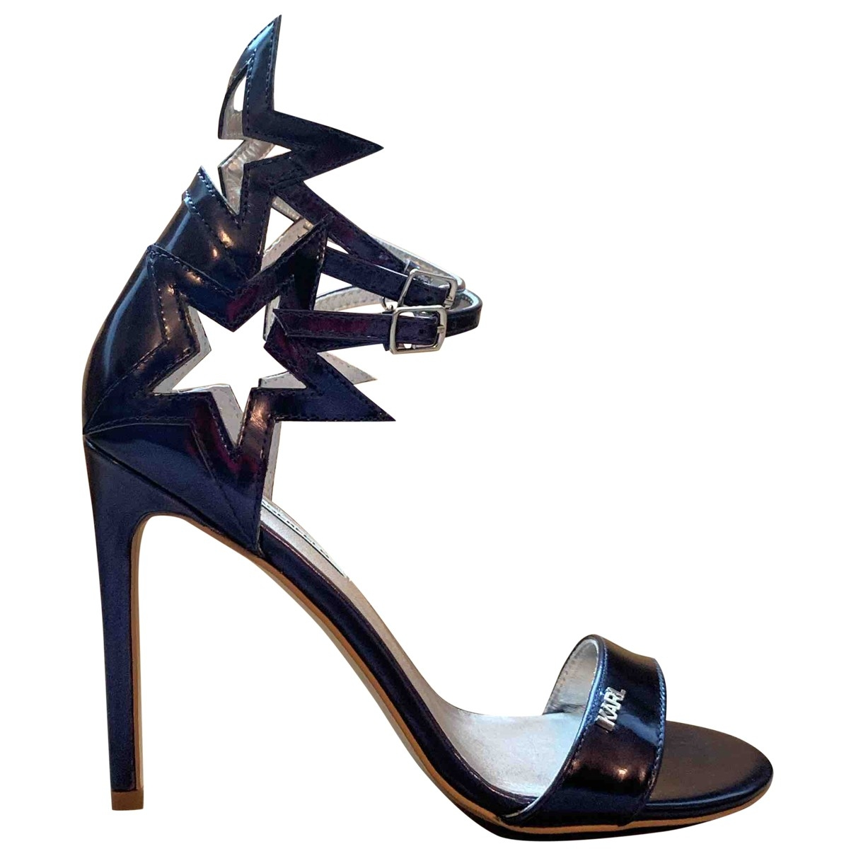 Karl Lagerfeld \N Navy Patent leather Sandals for Women 39 EU