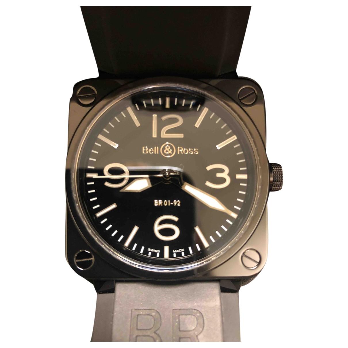 Bell & Ross - Montre BR01-92 pour homme en ceramique - noir