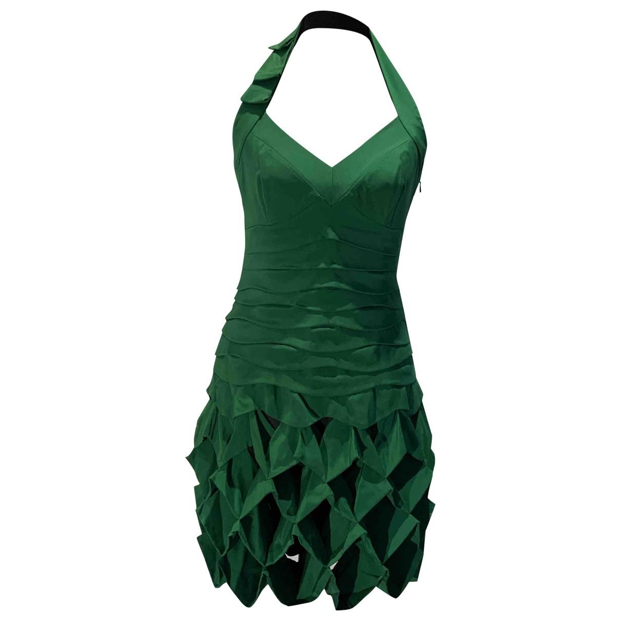 Karen Millen - Robe   pour femme en soie - vert