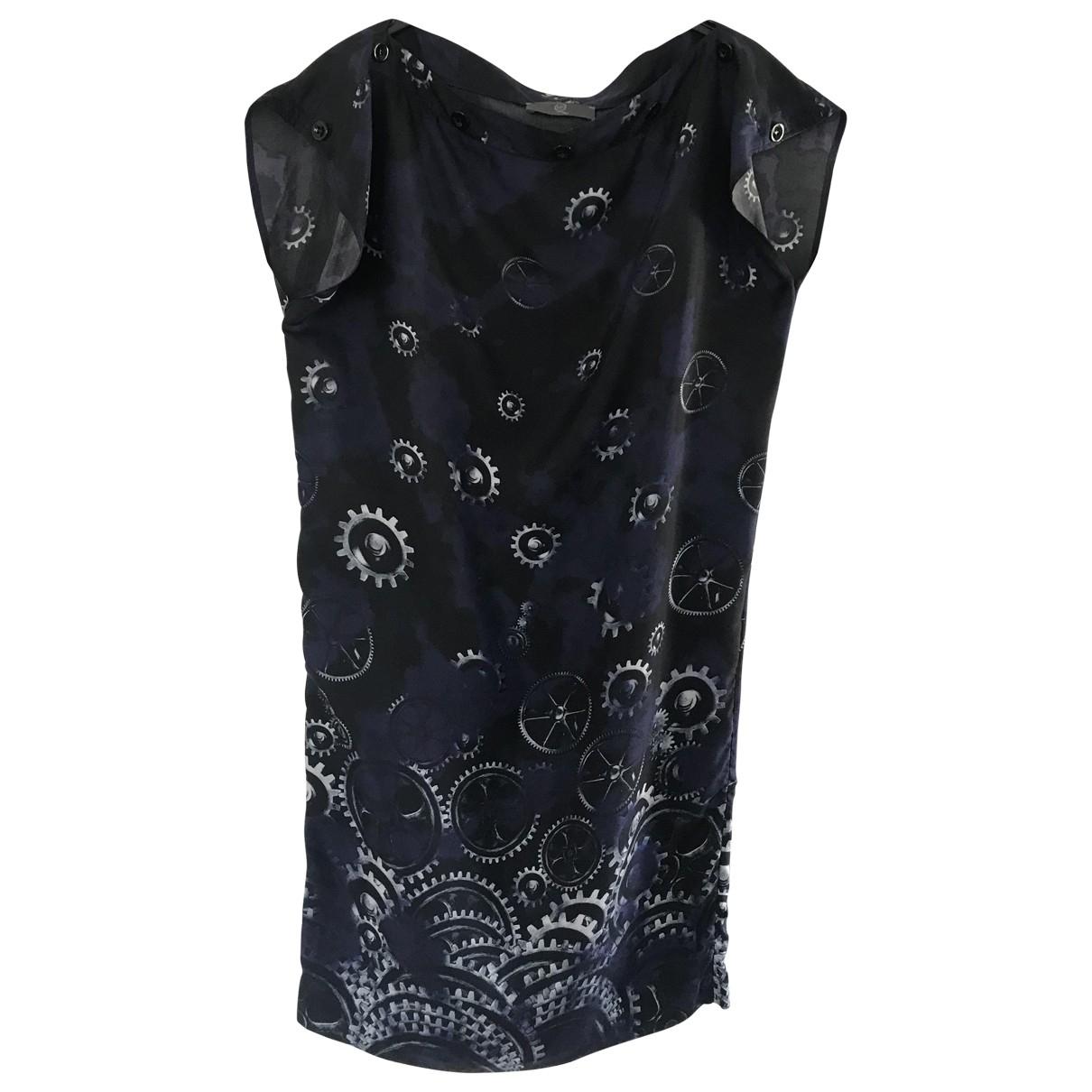 Alexander Mcqueen \N Blue Silk dress for Women 40 IT