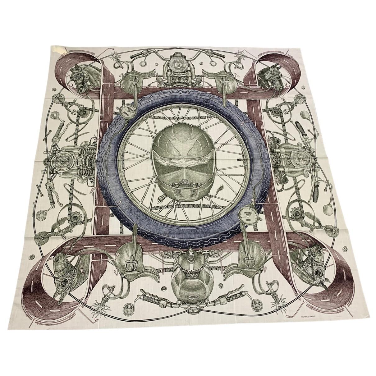Hermes \N Tuecher, Schal in  Bunt Wolle