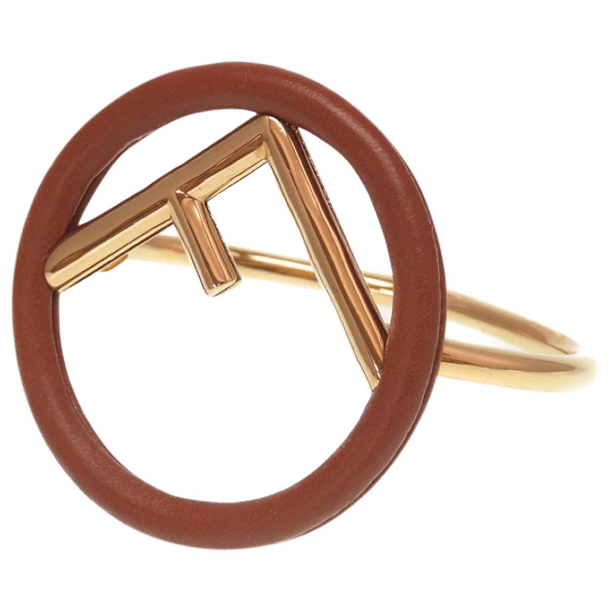 Fendi - Bracelet   pour femme en metal - marron