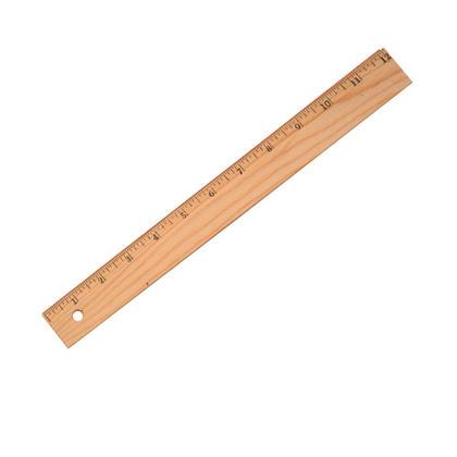 Westcott regle en bois bord plat, 30cm / 12