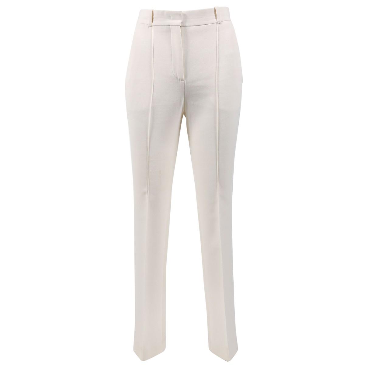 Givenchy \N Ecru Wool Trousers for Women 34 FR