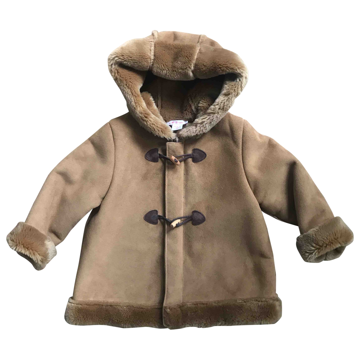 Non Signé / Unsigned \N Brown Faux fur jacket & coat for Kids 2 years - up to 86cm FR
