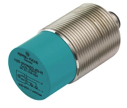 Pepperl + Fuchs M30 x 1.5 Inductive Sensor - Barrel, PNP-NO Output, 25 mm Detection, IP67, M12 - 4 Pin Terminal