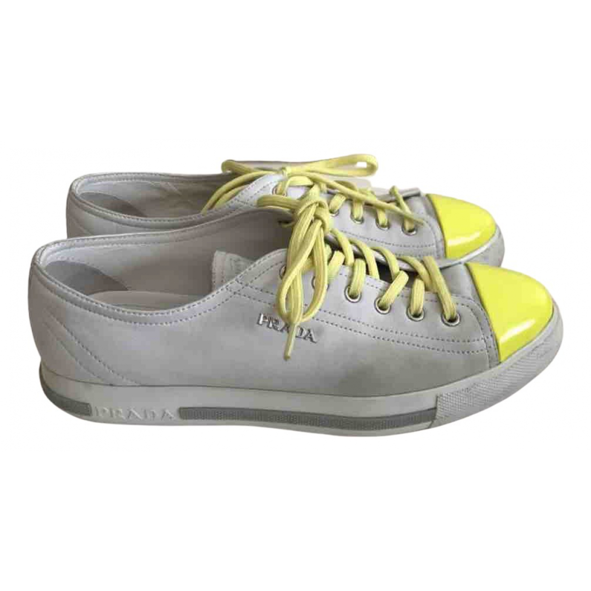 Prada \N Yellow Leather Trainers for Women 39 EU