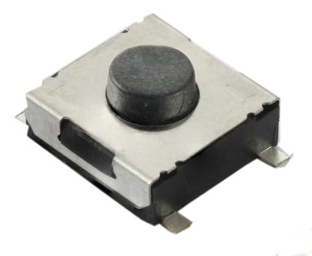 CTS White Tactile Switch, Single Pole Single Throw (SPST) 50 mA 5mm Surface Mount