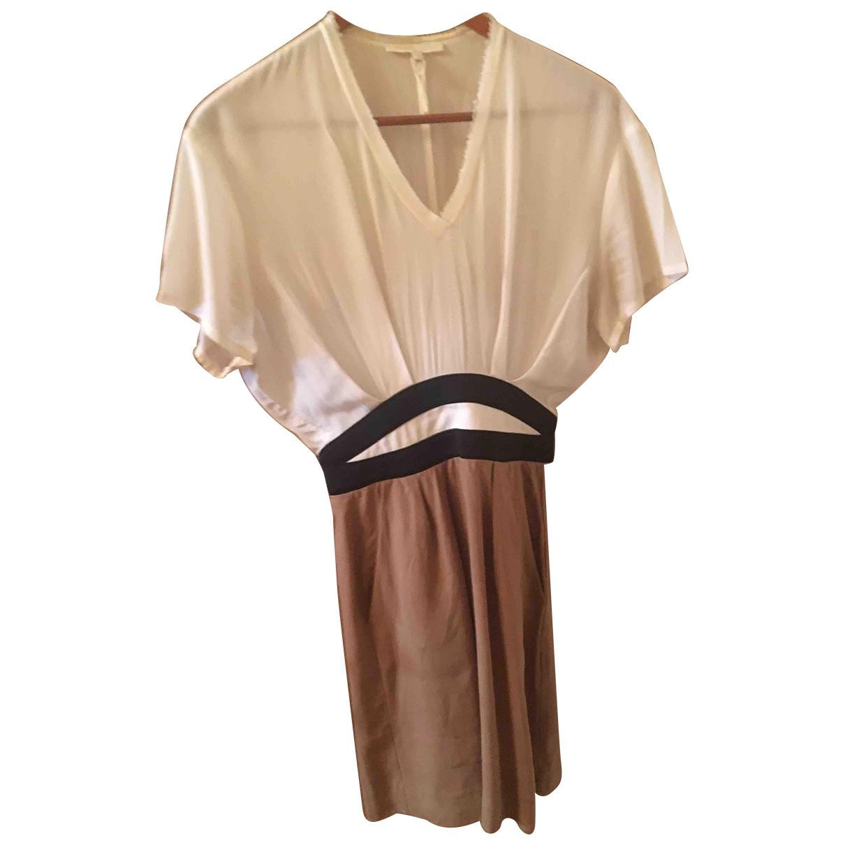 Maje \N Camel Cotton dress for Women 36 FR