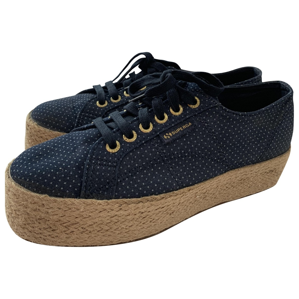 Superga \N Blue Velvet Espadrilles for Women 39 EU