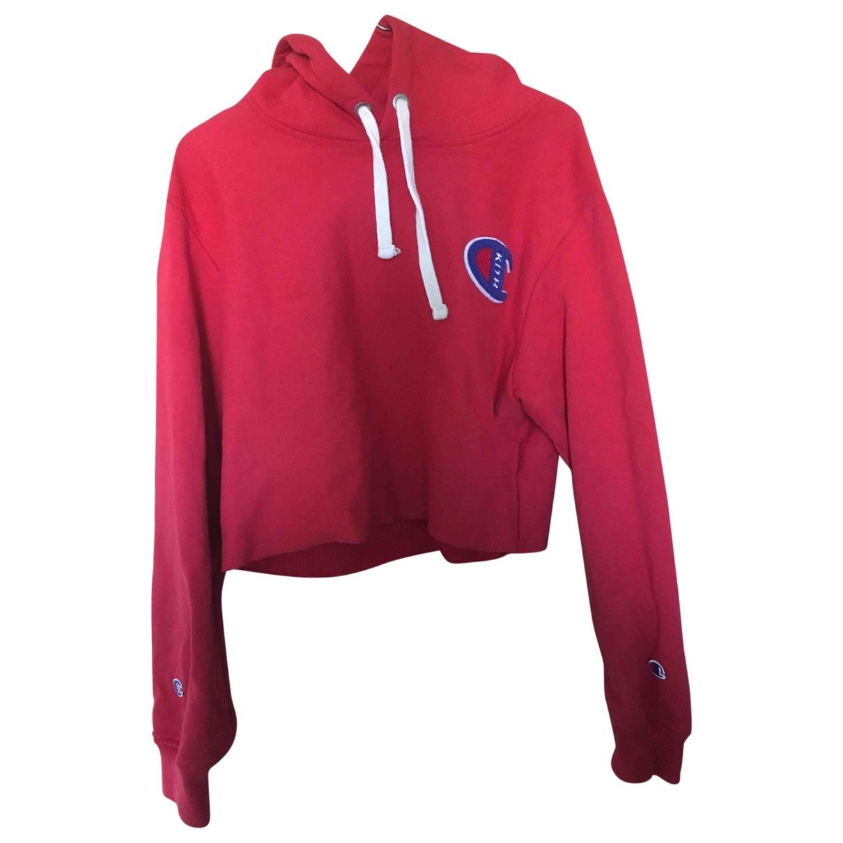 Champion - Pull   pour femme en coton - rouge