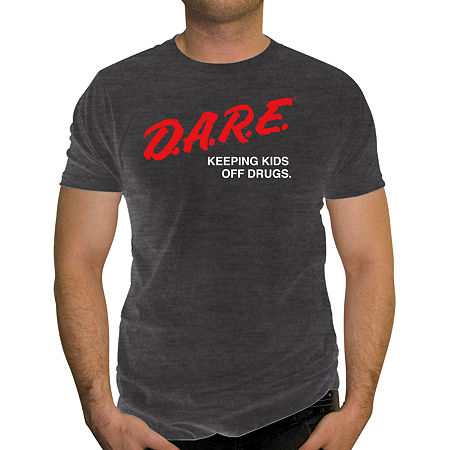 Mens Crew Neck Short Sleeve Graphic T-Shirt, Medium , Gray