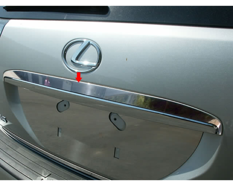 QAA Stainless Steel Rear License Trim 1Pc 2004-2009 Lexus RX350