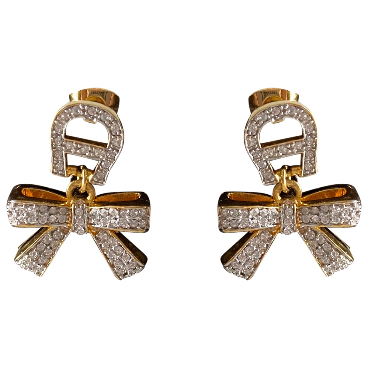 Aigner \N OhrRing in  Gold Metall