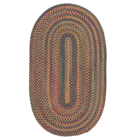 Colonial Mills Greenbrier Reversible Braided Wool Oval Rug, One Size , Multiple Colors