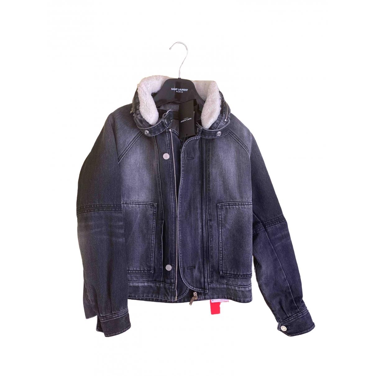 Yves Saint Laurent \N Jacke in  Grau Denim - Jeans