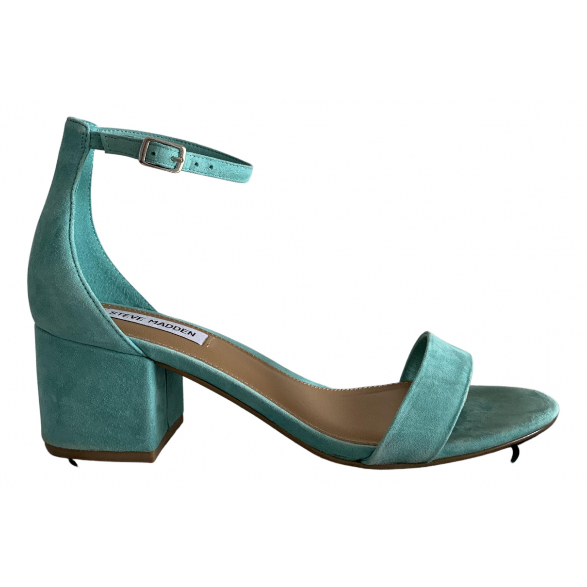 Steve Madden N Turquoise Suede Sandals for Women 38.5 EU