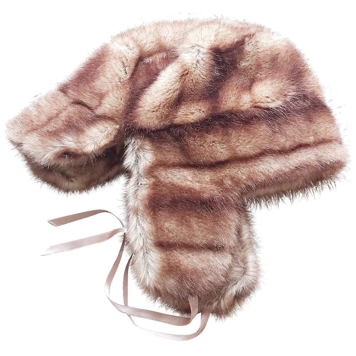 - Chapeau   pour femme en fourrure synthetique - marron
