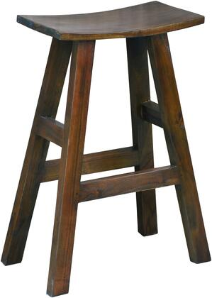 Shabby Chic Cottage Collection CC-ACCTC20BS-OJ Saddle Barstool  Solid Wood in Java Brown