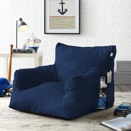 Comfy Collection BB145-28NY-AC Accent Chair with Indoor/ Outdoor Water Resistant  Foam Filling and Self-Expanding Nylon Material in Navy