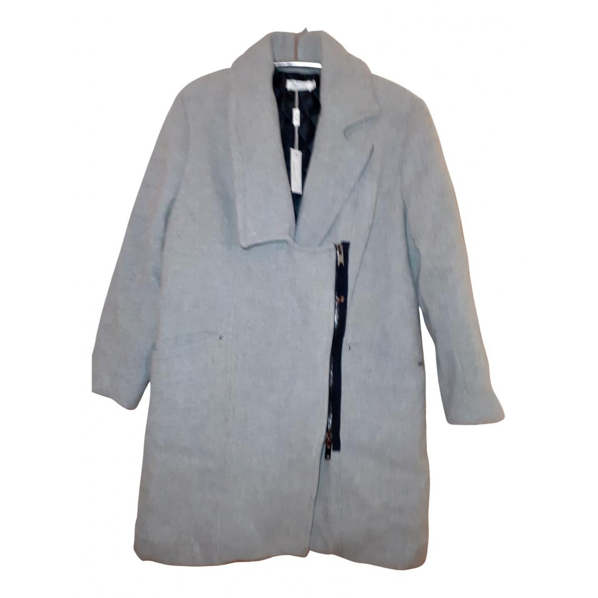 - Manteau   pour femme en laine - gris