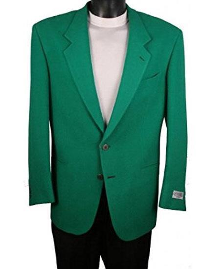 Men's Single Breasted 2 Button Green Blazer