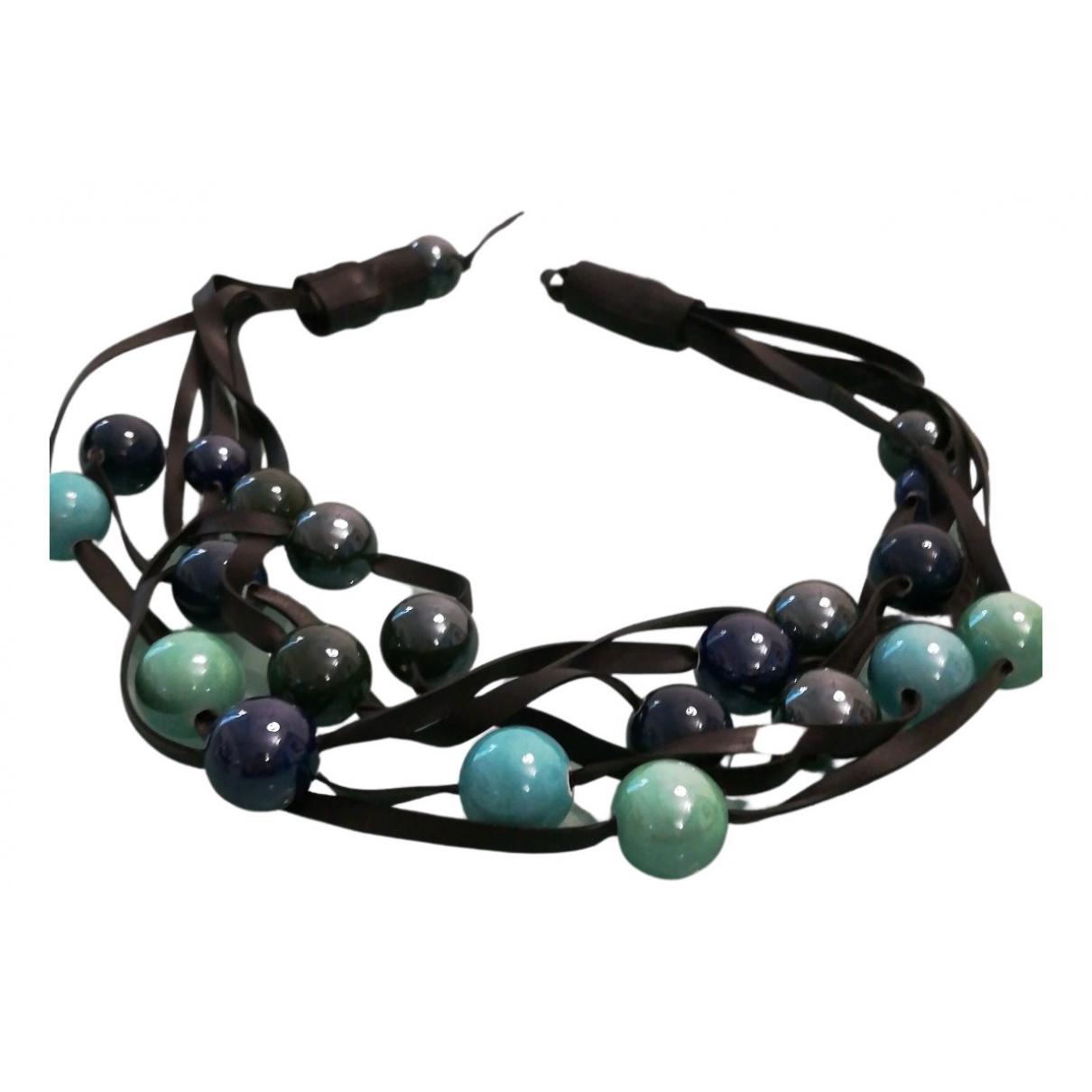 - Collier Turquoises pour femme en ceramique - multicolore