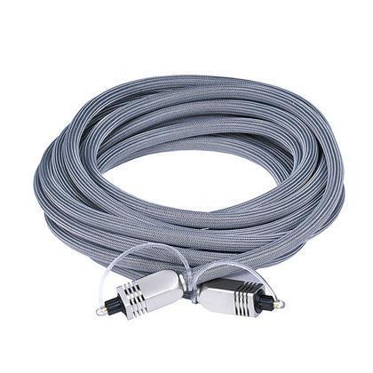 Câble optique Toslink avec connecteur métallique (11 longueurs disponibles) - Monoprice® - 15pi