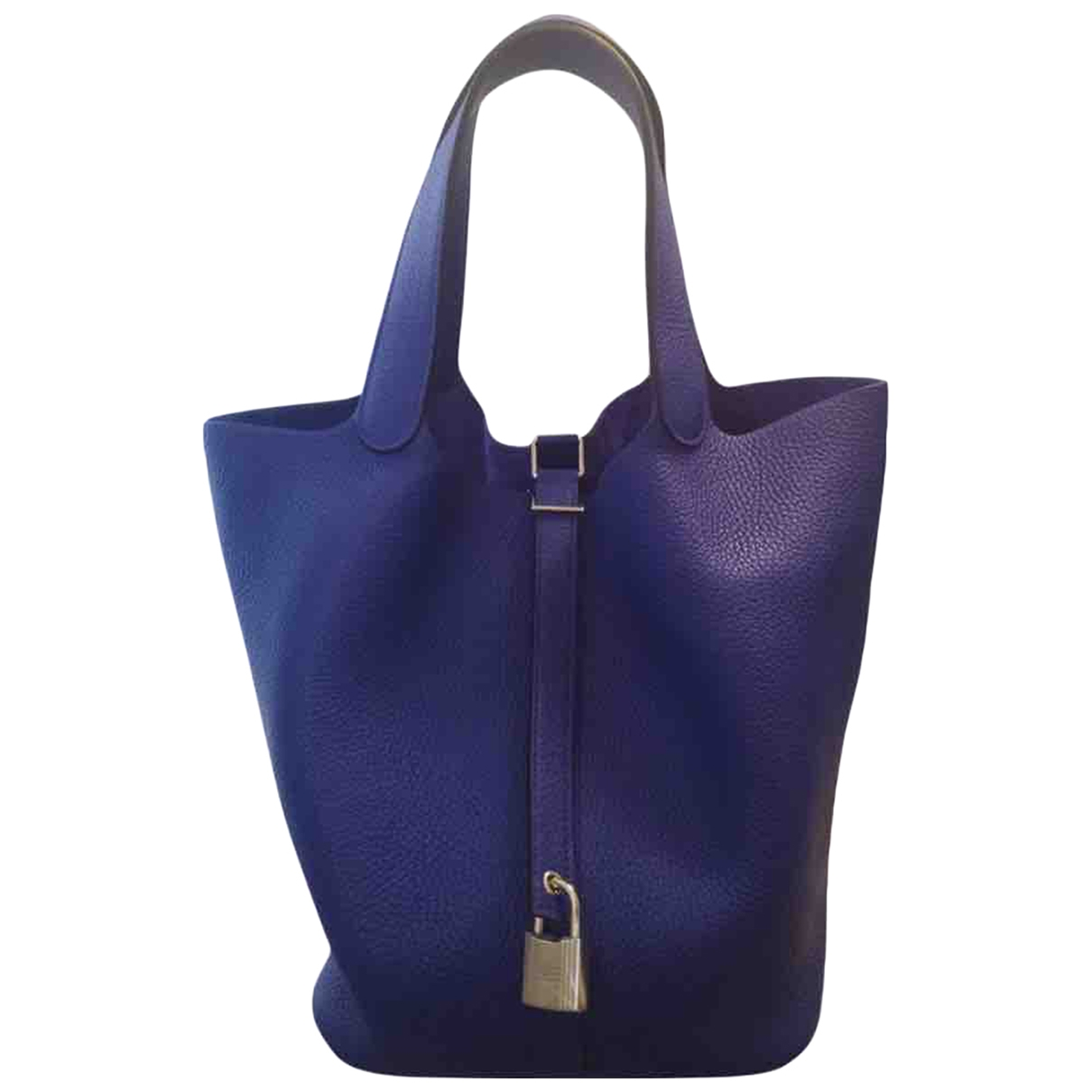 Hermes - Sac a main Picotin pour femme en cuir - bleu