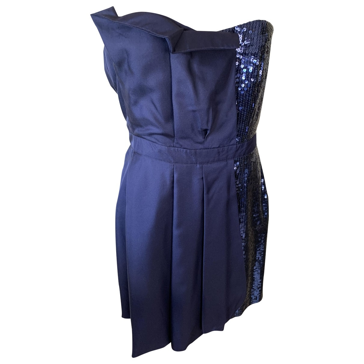 Moschino Love \N Kleid in  Blau Seide