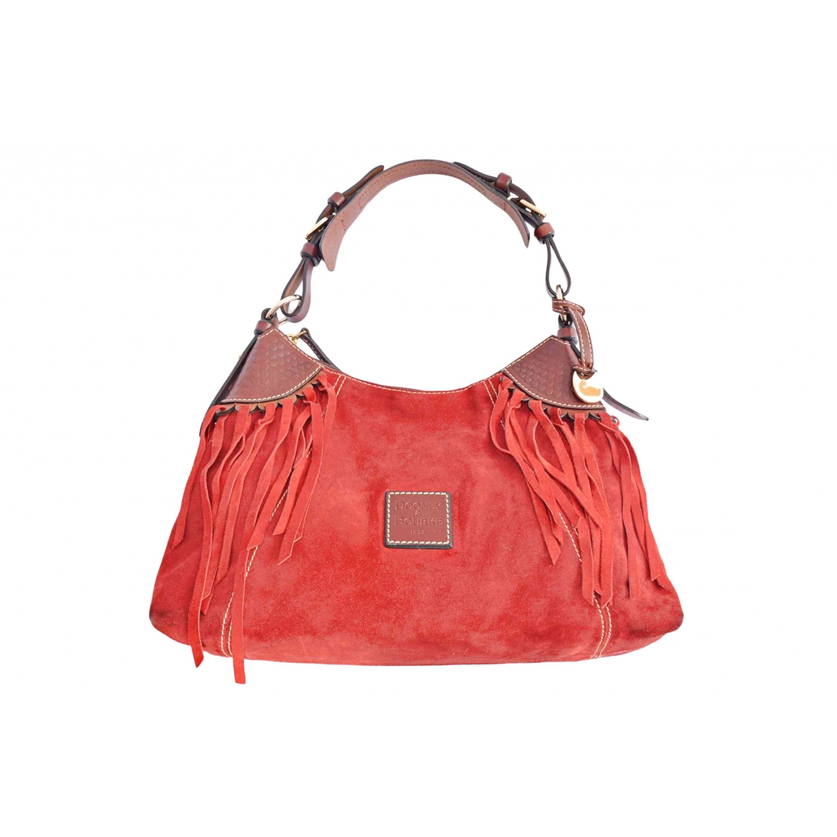 Non Signe / Unsigned \N Handtasche in  Rot Veloursleder