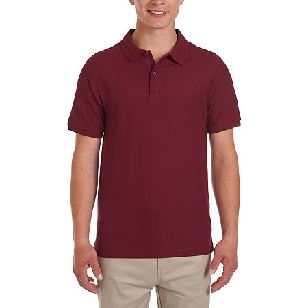 IZOD Young Men's Short Sleeve Polo Shirt, X-large , Red