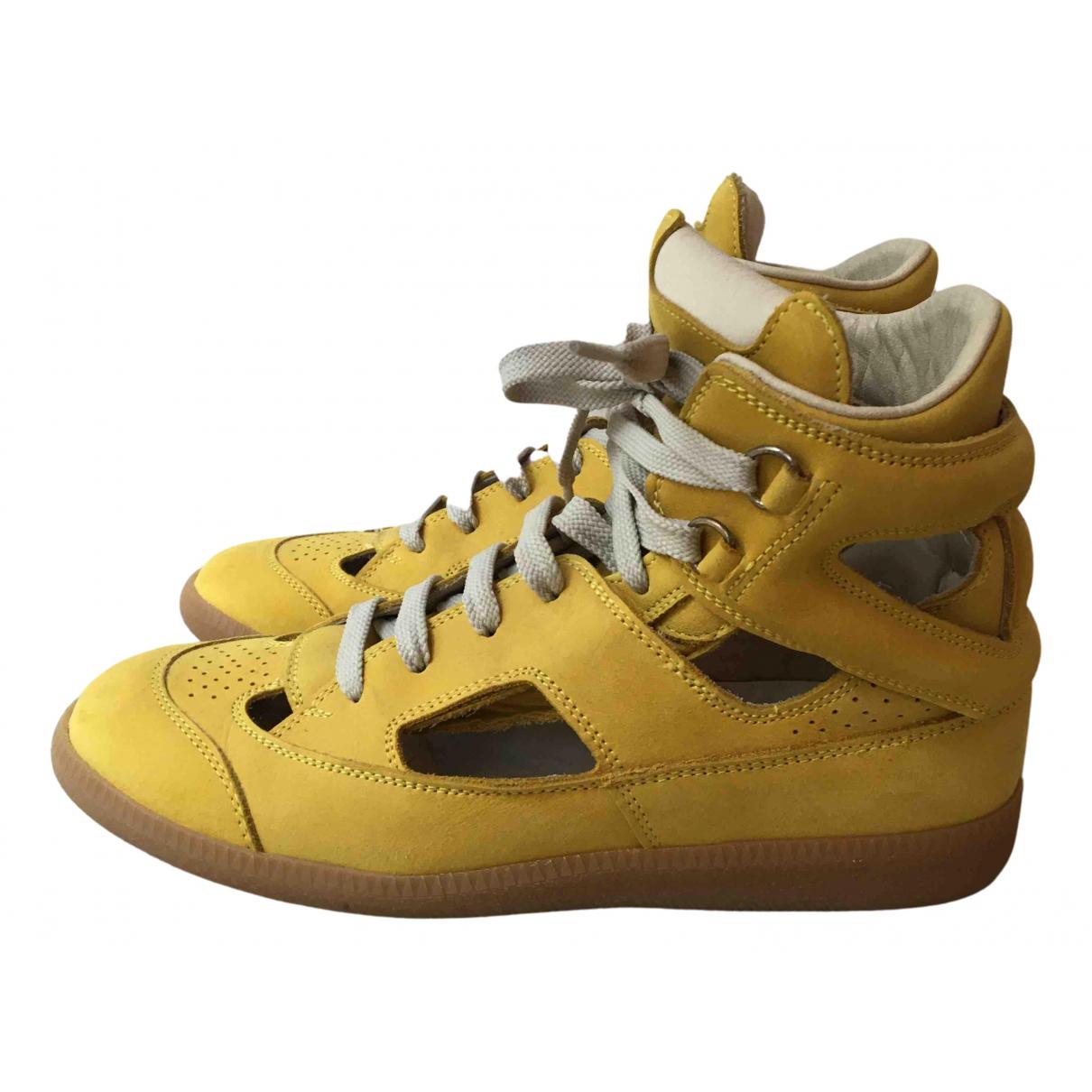 Maison Martin Margiela \N Sneakers in  Gelb Leder