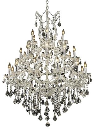2800D38C/EC 2800 Maria Theresa Collection Large Hanging Fixture D38in H52in Lt: 27+1 Chrome Finish (Elegant Cut