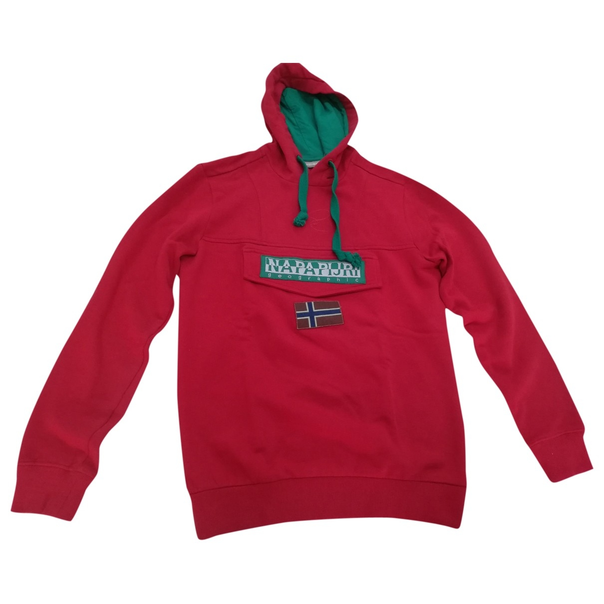 Napapijri \N Pullover.Westen.Sweatshirts  in  Rot Baumwolle