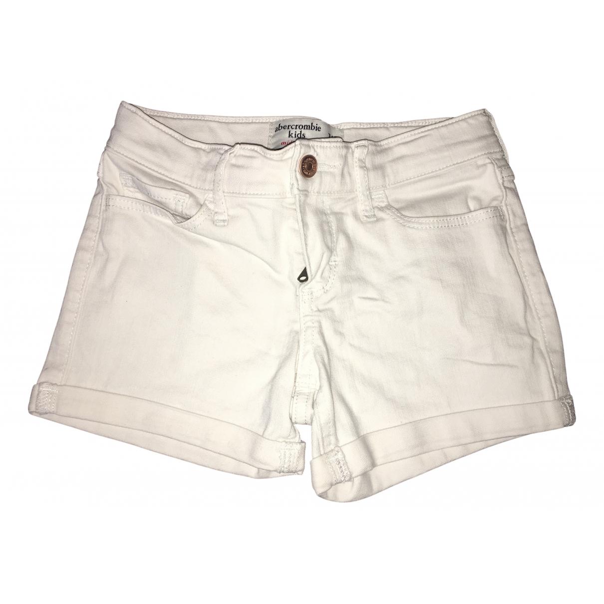 Abercrombie & Fitch - Short   pour enfant en coton - blanc