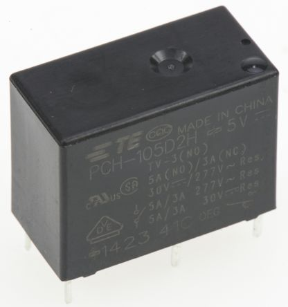 TE Connectivity PCH Series Relay,1CO,10A 120ac,5dc 400mW