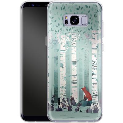 Samsung Galaxy S8 Plus Silikon Handyhuelle - Birches von Little Clyde