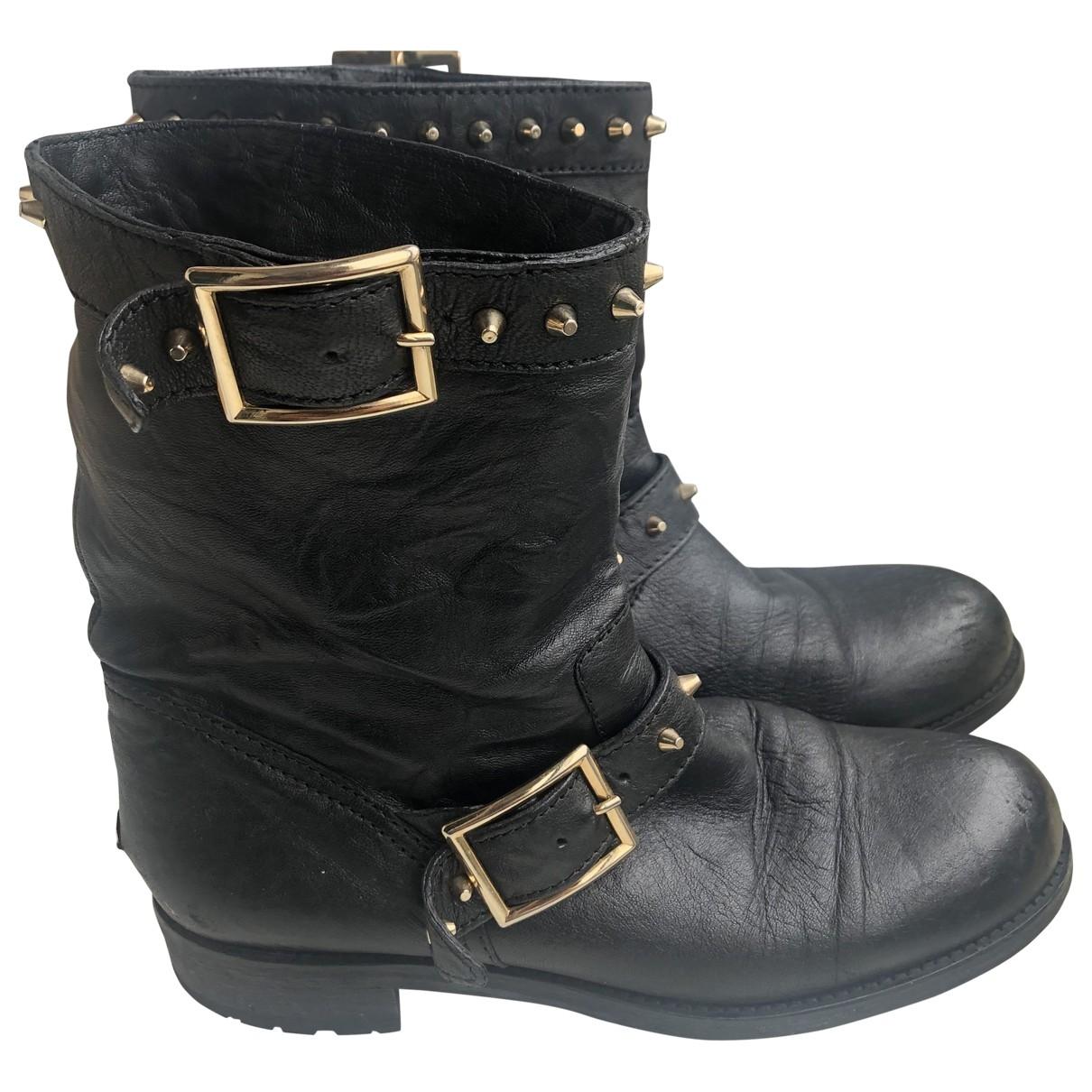 Jimmy Choo \N Stiefel in  Schwarz Leder